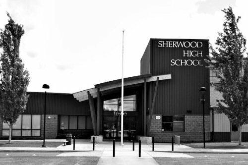 sherwood middle school main entrance